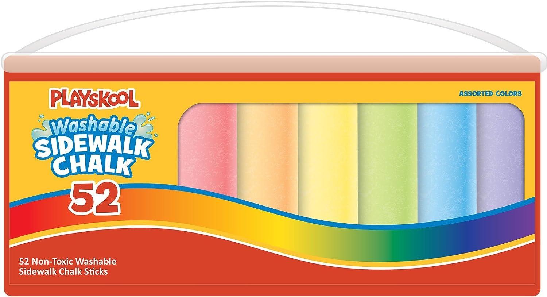 Playskool Super Bucket Sidewalk Chalk 50 Count (Plastic Tub With Handle)