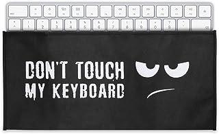 kwmobile Funda Protectora para Teclado Universal Keyboard - Cubierta para el Polvo o Salpicaduras con Don't Touch my Keyboard
