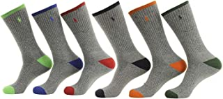 Polo Ralph Lauren 6-Pack Athletic Sports Long Socks