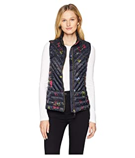 Brindly Printed Chevron Quilted Vest