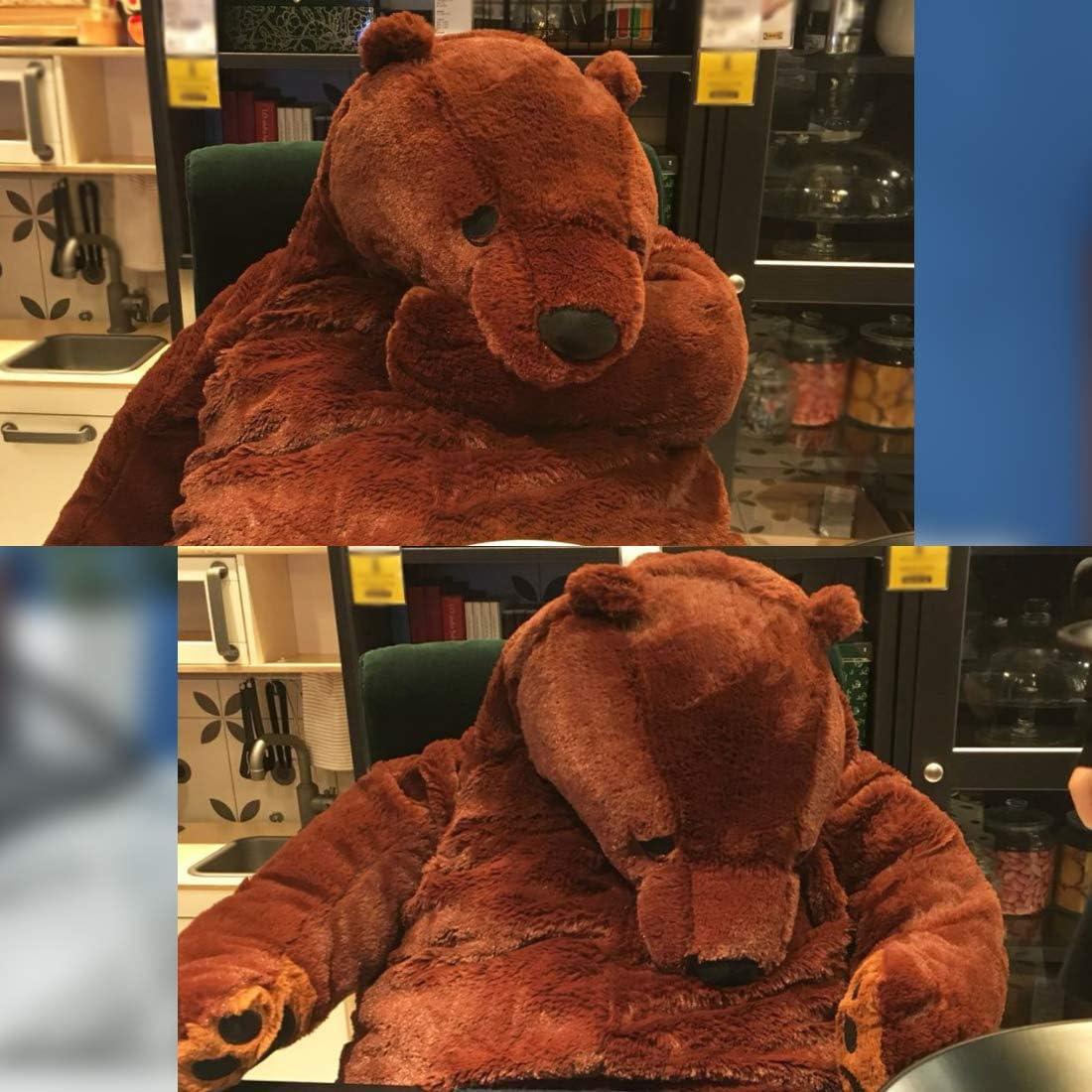 Giant Simulation Bear Toy Plush Toy Pillow Soft Animal Stuffed Plush Doll DJUNGELSKOG Home Decor Birthday Gift 100CM//39.4IN