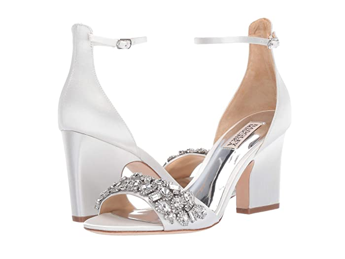 Badgley Mischka  Laraine (Soft White Satin) High Heels