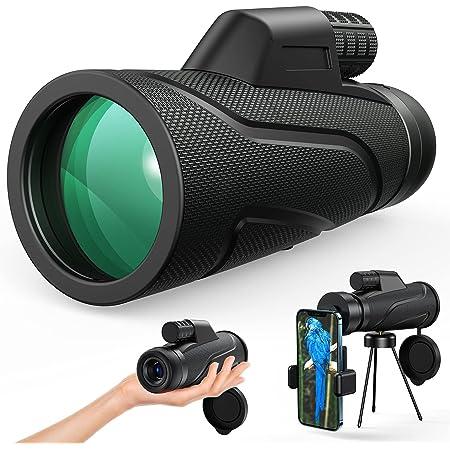 Gafild Monokulare Teleskop, HD 12x50 Monokular Wasserdicht monokular-Teleskope beschlagfest mit Smartphone Adapter Stativ für Vogelbeobachtung, Jagd, Wandern Sightseeing, Konzert Ballspiel