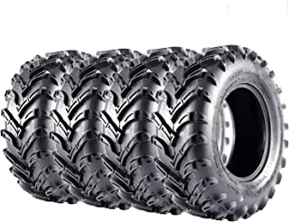 VANACC ATV Tires 25x8-12 Front & 25x10-12 Rear UTV Tire 25x8x12 25x10x12, 6PR, Set of 4