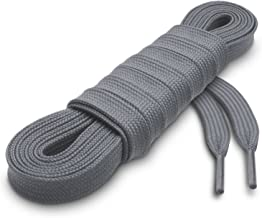 dark grey flat shoelaces