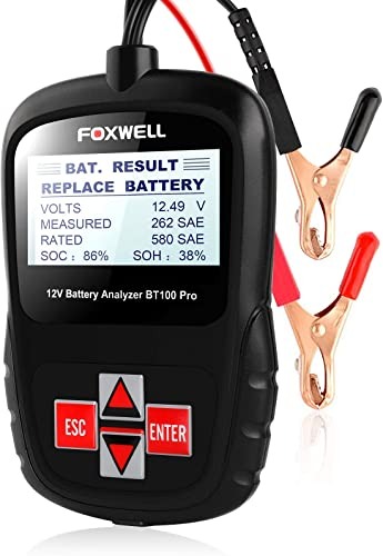new arrival FOXWELL Car Battery discount Tester Analyzer BT100 Pro 12V Automotive 100-1100CCA Detect Health Faults for Regular Flooded Agm Flat Plate high quality Spiral Gel Batteries outlet online sale