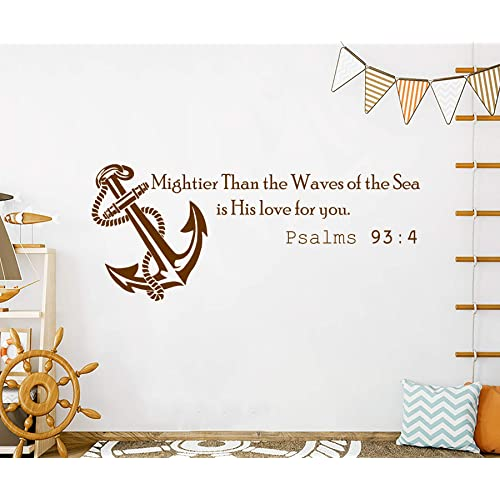 Refuse To Sink Interior Wall Decal vinyl decor sticker large girly cute anchor