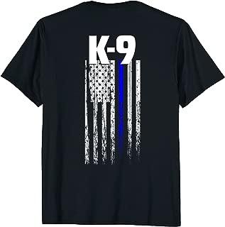 K-9 Police Officer USA Flag T-Shirt LEO Cops Law Enforcement