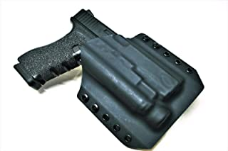 Code 4 Defense OWB Light Bearing Kydex Holster for Glock 17 with Olight PL-2 Valkyrie