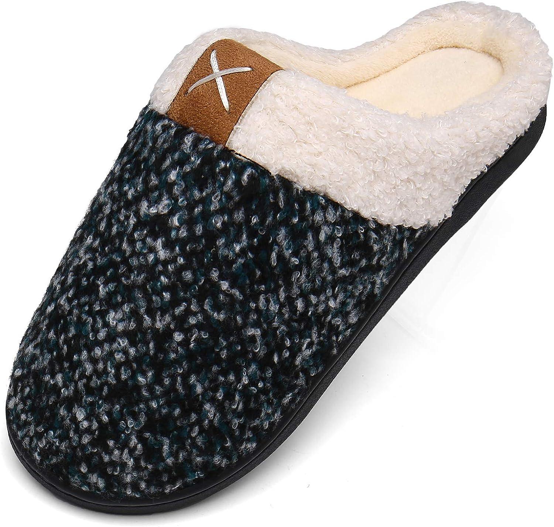 Mishansha Damen Herren Winter Wärme Hausschuhe Memory Foam Plüsch Pantoffeln rutschfest Slipper
