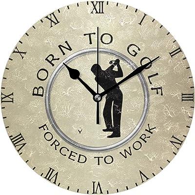 MIKA 働くため ゴルフ壁掛け時計 おしゃれ 掛け時計 壁掛時計 ウォールクロック 掛時計 クロック デザイン時計 壁掛け 時計壁掛け時計