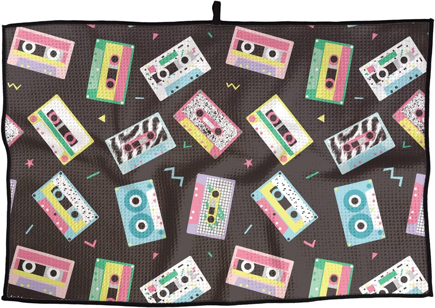 Soft Superfine Golf Towel Max 44% OFF Audio Tapes Style Quick-D in Retro Max 58% OFF 80s