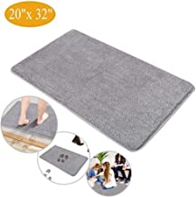 Indoor Doormat Super Absorbent Mud Mat, Magic Non Slip Door Mat Dirts Trapper Mat, Outdoor XL Doormat for Bathroom, Front, Inside and Entry Machine Wash Gray Rug (32