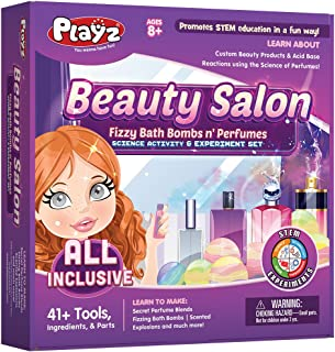 Playz Beauty Salon Perfume & Bath Bomb Arts & Crafts Science Activity & Experiment Gift for Girls Age 8, 9, 10, 11, 12