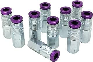 ColorFit by Milton HIGHFLOWPRO 764VC Pneumatic Coupler - (V-Style, Purple) - 1/4