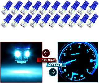 cciyu 20 Pack Ice Blue T10 W5W Wedge 168 194 LED Bulb Replacement fit for 2013 2014 2015 Infiniti JX35 (QX60) Dome Light Map Light Step/Courtesy/Door Light