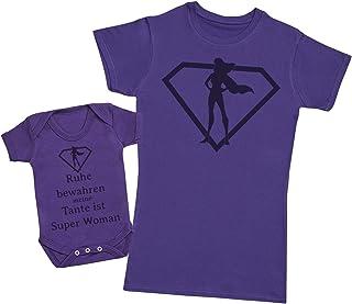 Zarlivia Clothing Ruhe bewahren Meine Tante ist Super Woman - um Set zu vervollständigen - Passende Tante Baby Geschenk Set - jeweils einzeln verkauft