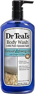 Dr. Teal's Pure Epsom Salt Body Wash, Detox, 24 Fluid Ounce