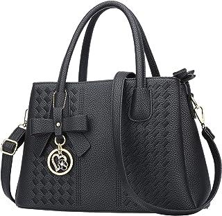 Sponsored Ad - Women Satchel Bags Handle Shoulder Handbags and Purses Pockets Zipper Leather Crossbody Bags …