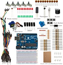 SunFounder Uno R3 Sidekick Basic Starter Kit w/Breadboard, Jumper Wires, Color Led, Resistors, Buzzer for Arduino UNO R3 Mega2560 Mega328 Nano - Including 42 Page Instructions Book
