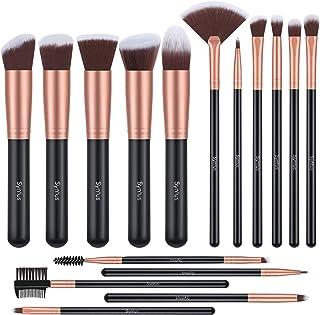 Syntus Makeup Brush Set, Premium Synthetic Foundation Powder Kabuki Blush Concealer Eye Shadow 16 Pcs Makeup Brushes, Rose Golden