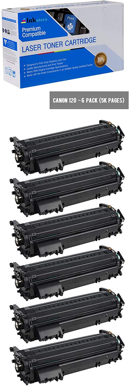 Inksters Compatible Black Toner Cartridge Replacement for Canon 120/2617B001AA - Compatible with ImageCLASS D1120 D1150 D1170 D1180 D1320 D1350 D1374 (6 Pack)