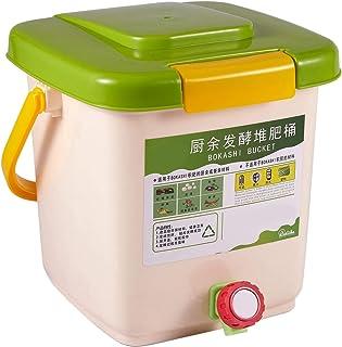 Noblik Contenedor de Compostaje de 12L Reciclar Compostador Contenedor de Compostaje Aireado PP Contenedor de Basura Casero OrgáNico Cubo Cocina JardíN Contenedores de Basura de Alimentos
