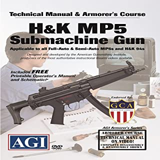 American Gunsmithing Institute Armorer's Course Video on DVD for H&K MP-5 Submachine Gun - Technical Instructions for Disassembly, Cleaning, Reassembly and More