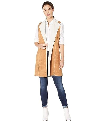 BCBGeneration Shearling Knit Long Vest TSA4196073 (Camel) Women
