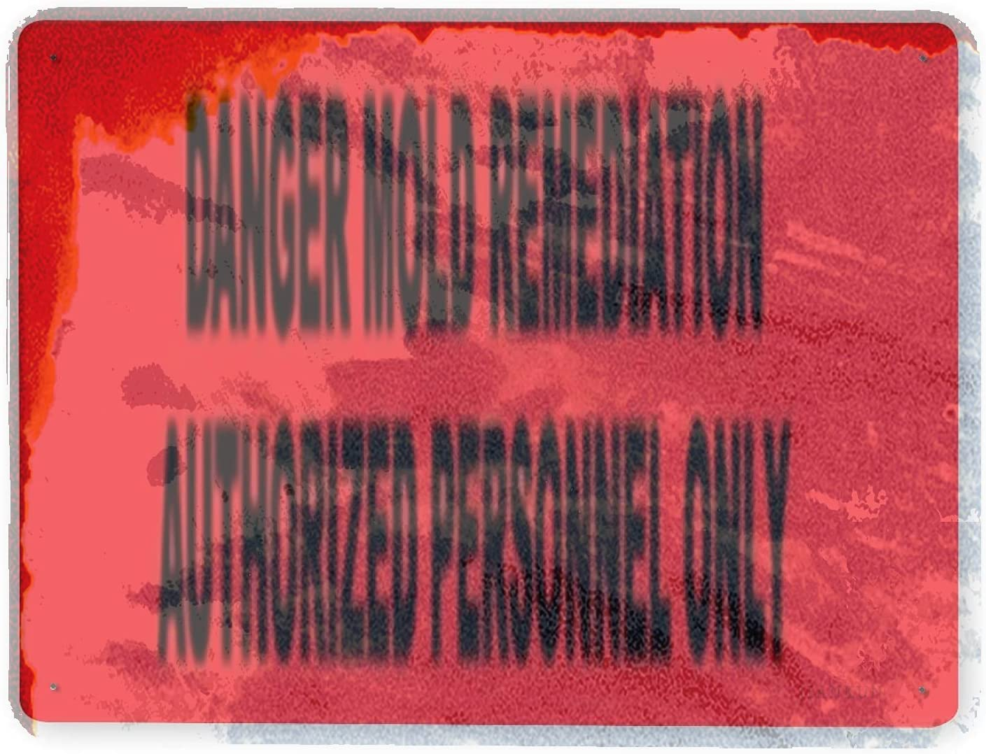 J.DXHYA New Shipping Free Man Cave Decor 2 Pieces Mold Warning Remedia Danger Sign Finally resale start