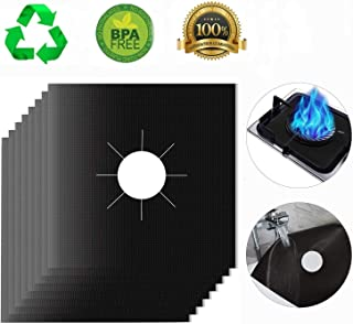 Stove Burner Covers,MSDADA Gas Range Protectors, 0.2 mm Double Thickness,Reusable, Non-Stick, Easy to Clean 10.6