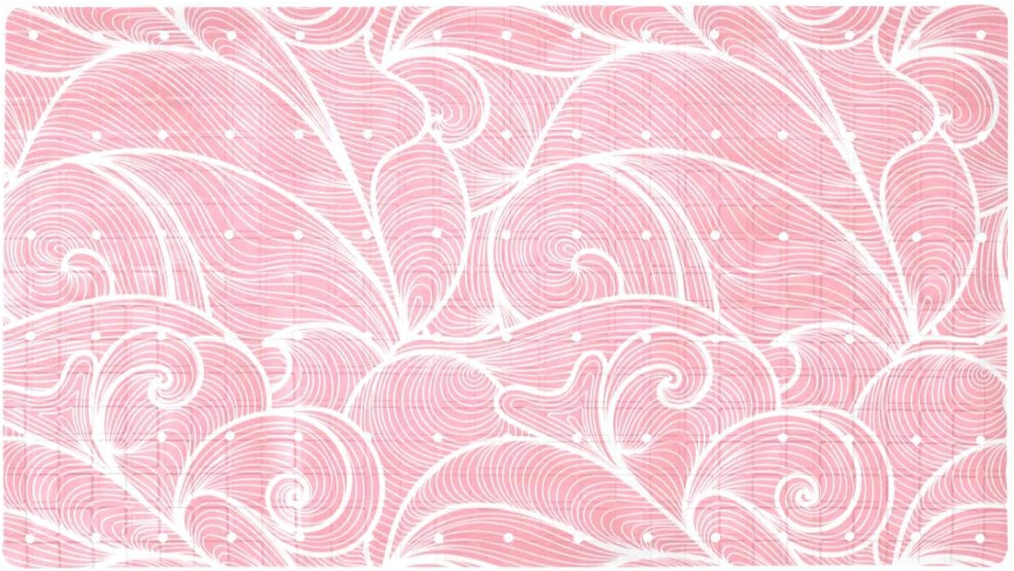 Bath Tub Shower Mat Year-end annual account 15.7x27.9 Wa Waves inches Hand-Drawn Fixed price for sale Pattern