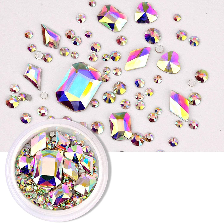 N\C 1 Box Mixed Design Rhinestone Flat Gl Glitter Manufacturer direct delivery Bottom Max 71% OFF Diamond