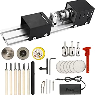 Drill Wood CNCEST Adjustable Benchtop Wood Lathe for Polish,Cut