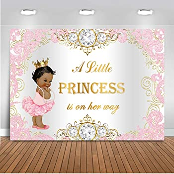 Amazon Com Mehofoto Purple Princess Baby Shower Backdrop Royal Silver Purple Photography Background 7x5ft Vinyl Royal Princess Baby Shower Party Banner Decoration Camera Photo