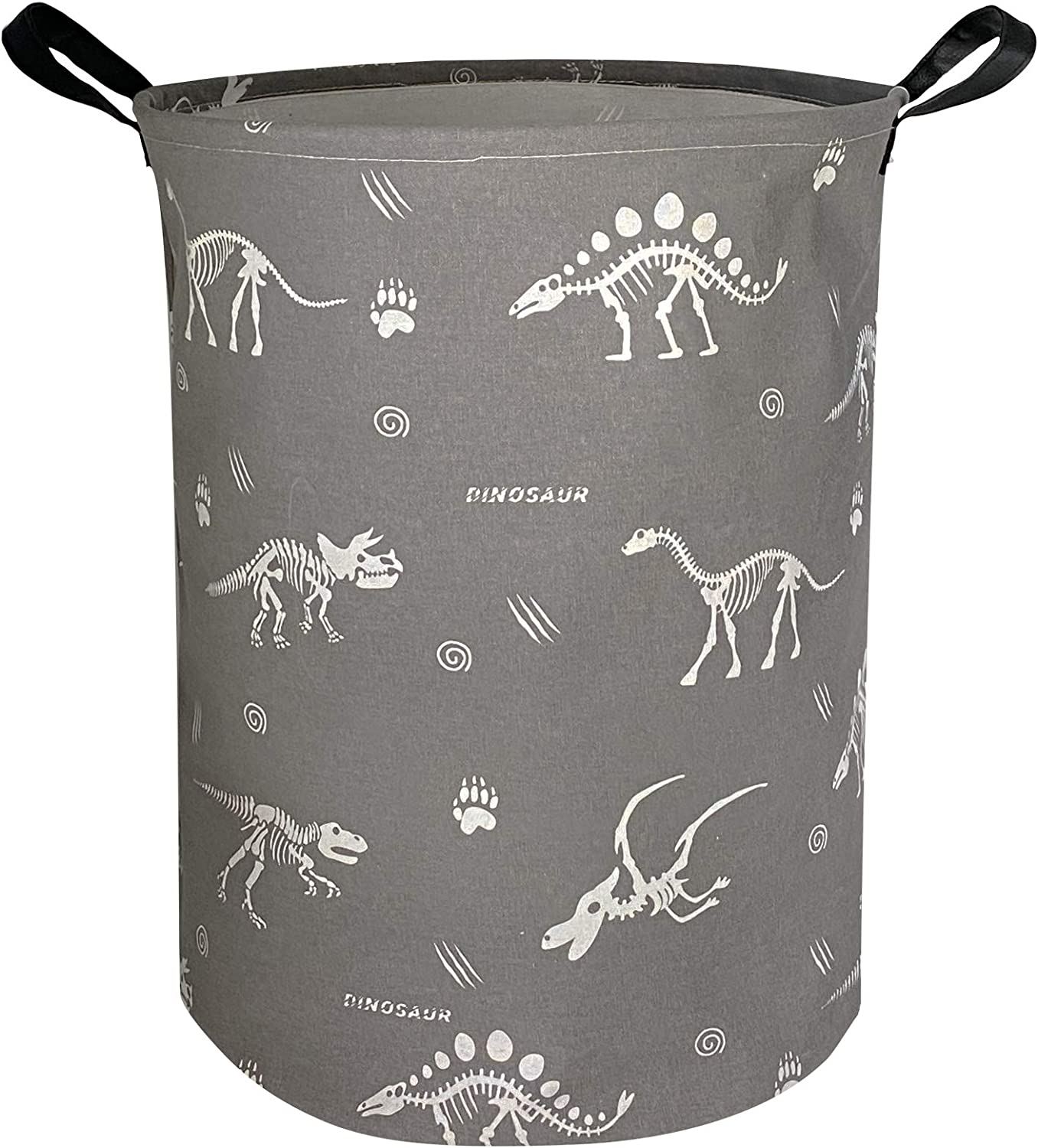 NTAOHAMPER Round Dinosaur Laundry H Canvas Don't miss the campaign Department store Fabric Basket