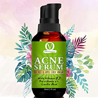 Vital Organics Acne Gel Serum For Acne Treatment & Spots, Scars Removal With UV Gel Sunscreen And Secret Tea Tree Oil Formula For Only Skin and Combination Skin types