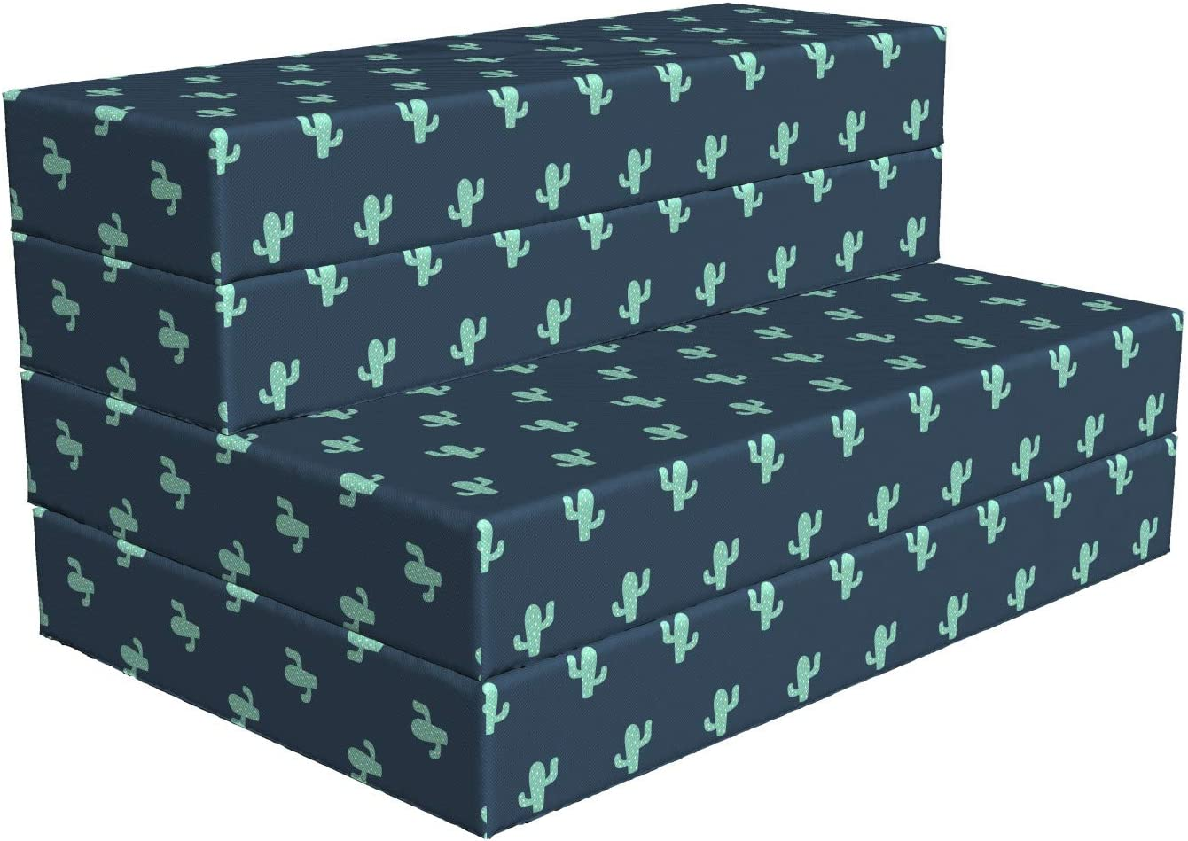 Seattle Mall Lunarable Cactus Foldable Mattress Concept 7 Max 42% OFF Plantation Desert