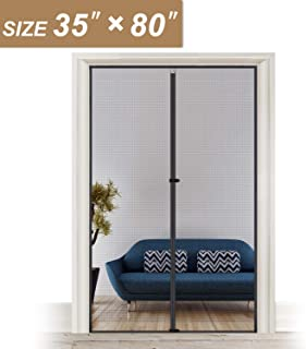 Magnetic Screen Door 35 x 80, Reinforced Fiberglass Mosquito Net Curtain Easy Installation for Walk Through Door Fit Doors Size Up to 35