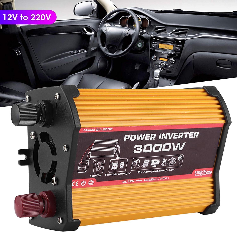 Convertisseur de puissance onduleur de voiture double adaptateur USB /à onde sinuso/ïdale modifi/ée Car Inverter Power Converter Dual USB Fast Charger Modified Sine Wave Adapter 12V to 110V