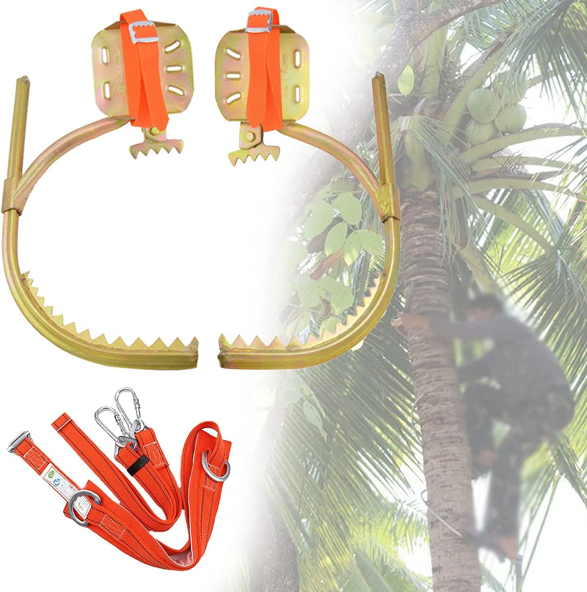 ZXLZM Tree All items free shipping Climbing Spikes Wooden Adjustable Buckle Foot Ranking TOP5 Pole