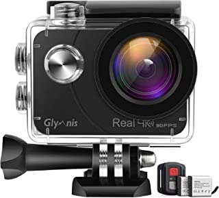 Glymnis Action Cam 4 K 20 MP Sport Action Camera Touch Screen EIS Actioncam 40 m Impermeabile Subacquea Fotocamera WiFi Te...