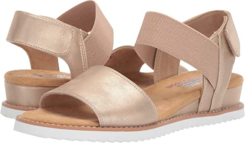 Skechers Bobs from Wohommes Desert Kiss - Timeless Summer Champagne 7.5 B US