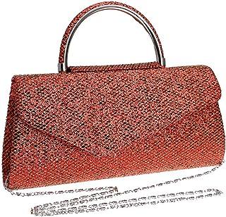 GLJJQMY Dinner Bag Women's Hand Bag Wedding Banquet Casual Shoulder Bag Evening Bags (Color : Red, Size : 26x13x5.5cm)