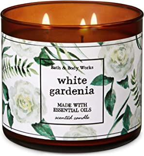 Bath and Body Works White Gardenia 3-Wick Candle 14.5 Ounce (2019 Limited Edition)