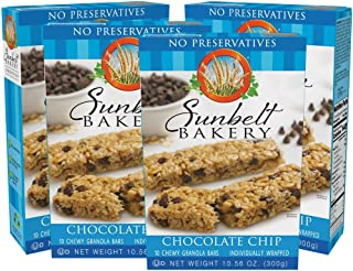 Sunbelt Bakery Chewy Chocolate Chip Granola Bars, 1.1 Ounce Bars, 40 Individually Wrapped Granola Bars