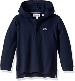 Lacoste Boys Long Sleeve Hooded Pique Polo