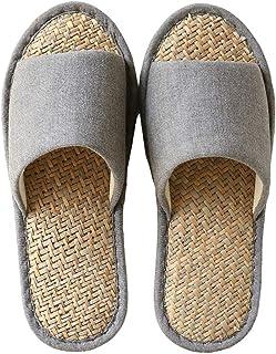 [TANOCO] スリッパ 男女兼用 ルームシューズ 洗える 抗菌衛生 い草中敷きスリッパ 室内 履き 滑り止め 来客用