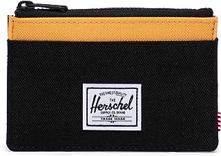 Herschel Oscar Wallet, Negro Crosshatch/Negro Ripstop/Blazing Orange