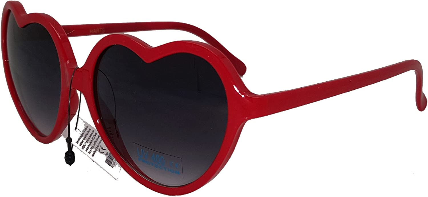 Luxury goods Heart Shaped Sunglasses 40% OFF Cheap Sale Red
